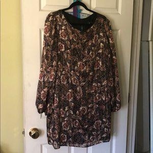 NWT Lulu's floral chiffon shift dress